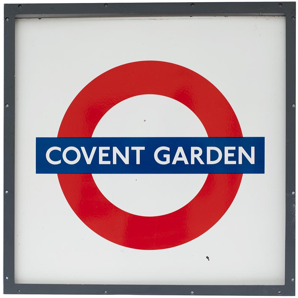 London Transport Underground Rectangular Enamel