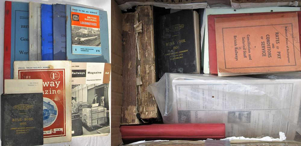 A Box Containing Several Miscellaneous Railway