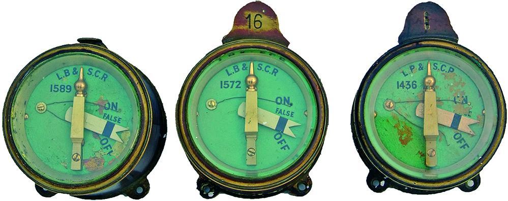 London Brighton & South Coast Railway Brass Cased