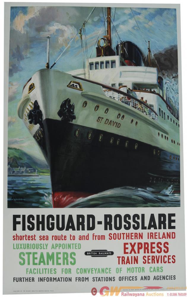 Poster British Railways 'Fishguard To Rosslaire'