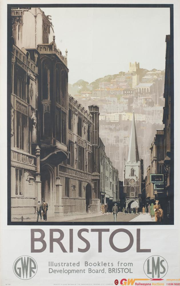 Poster GWR/LMS BRISTOL By Claude Buckle. Double
