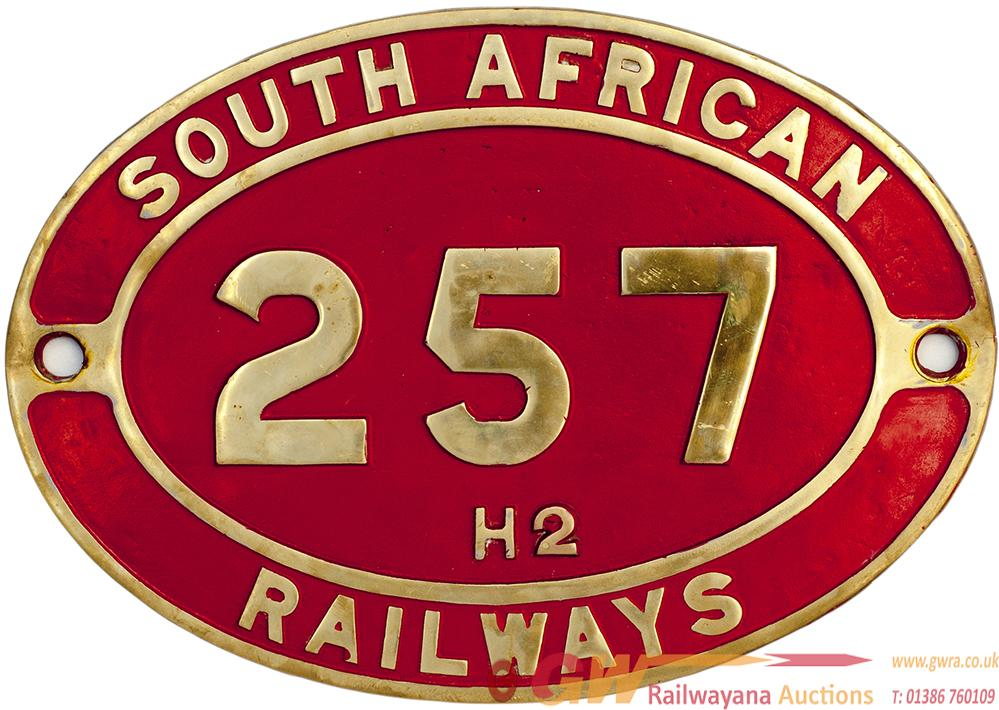 South African Brass Cabside Numberplate SOUTH