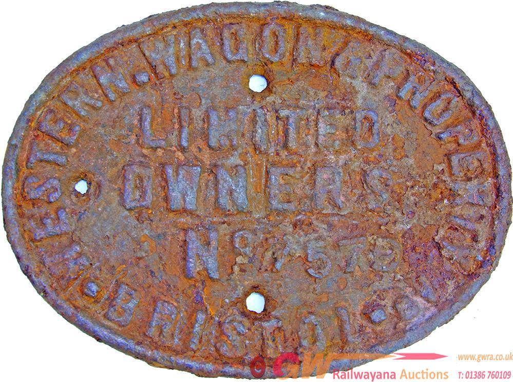 Wagon Plate, Western Wagon & Property Co Limited