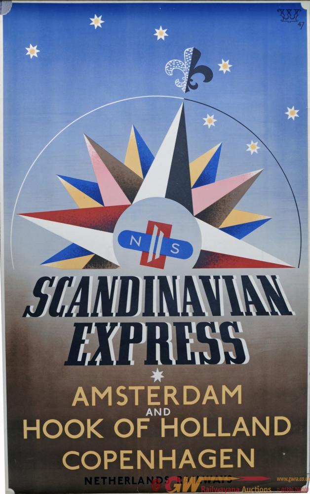 Netherlands Railway Poster, Scandinavian Express -