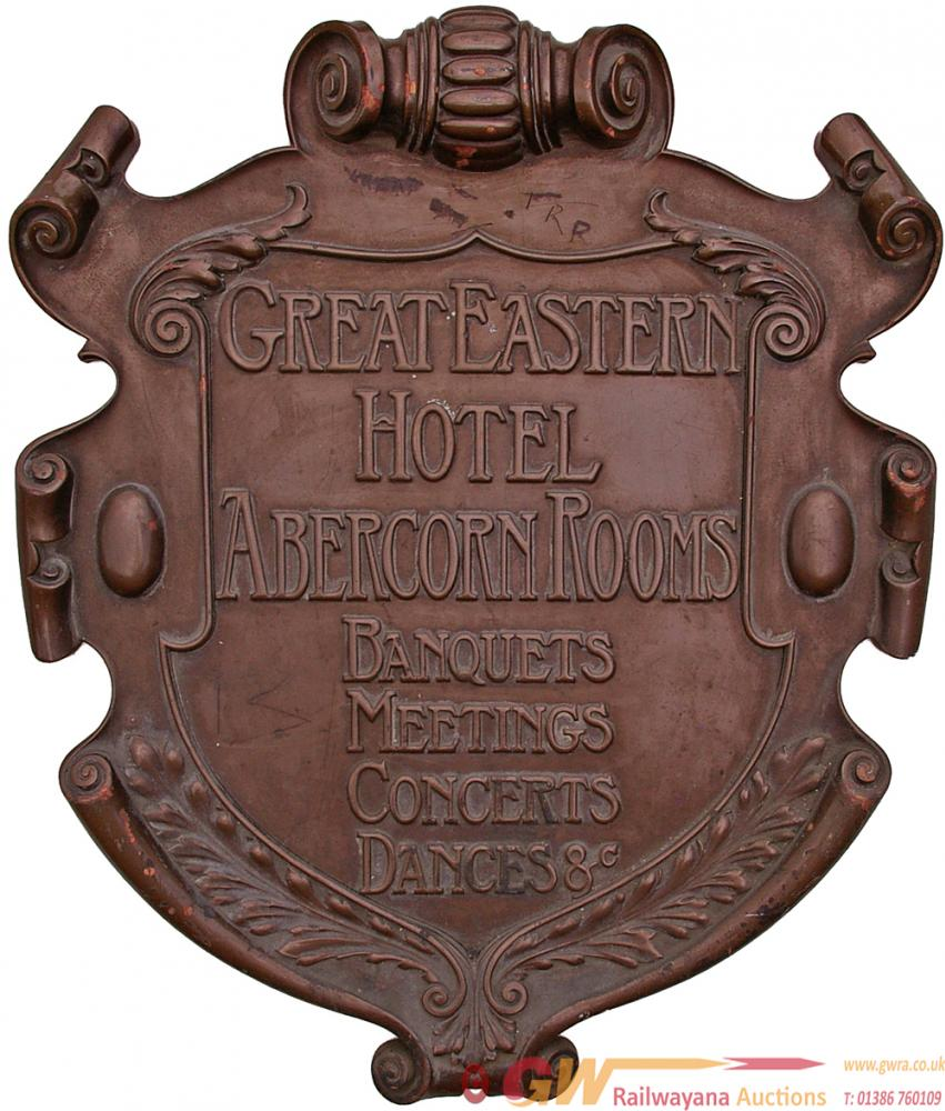 Great Eastern Hotel Bronze Plaque As Removed From