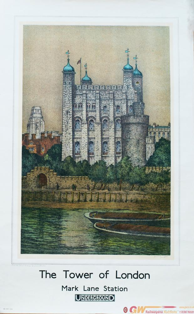 Poster London Underground THE TOWER OF LONDON MARK