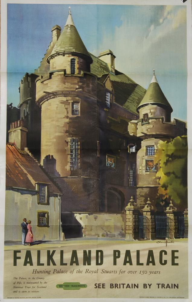 Poster BR(Sc) Falkland Palace By Claude Buckle,