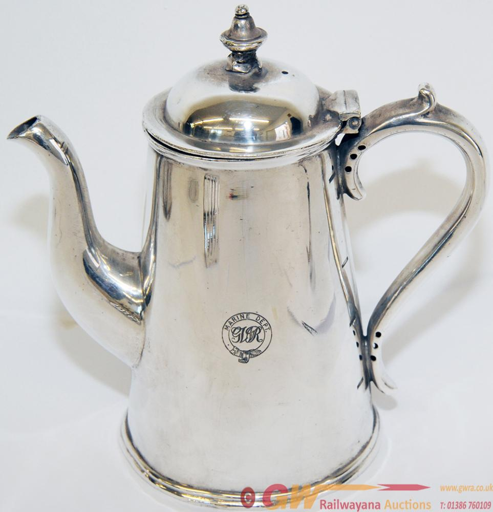 GWR Marine Department Silverplate Coffee Pot With