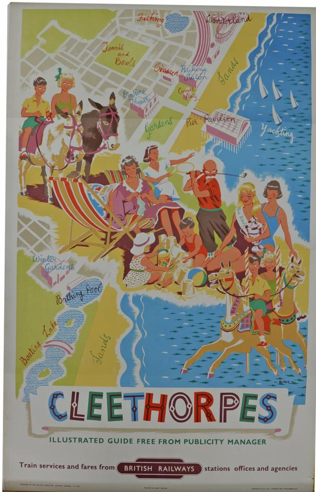 BR Poster, 'Cleethorpes' By Blake, Double Royal