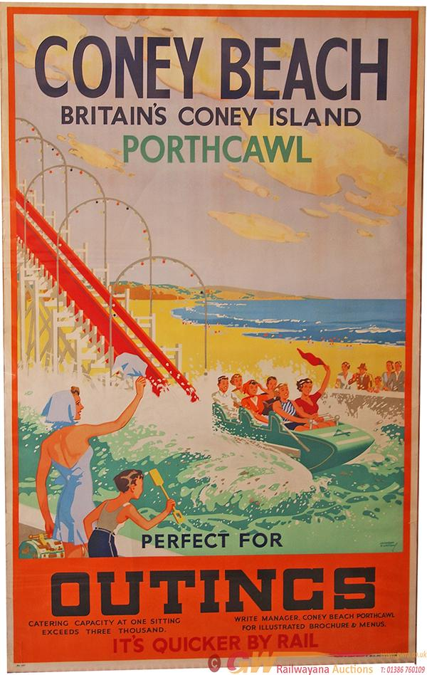 Poster, British Railways(W) 'Coney Beach -