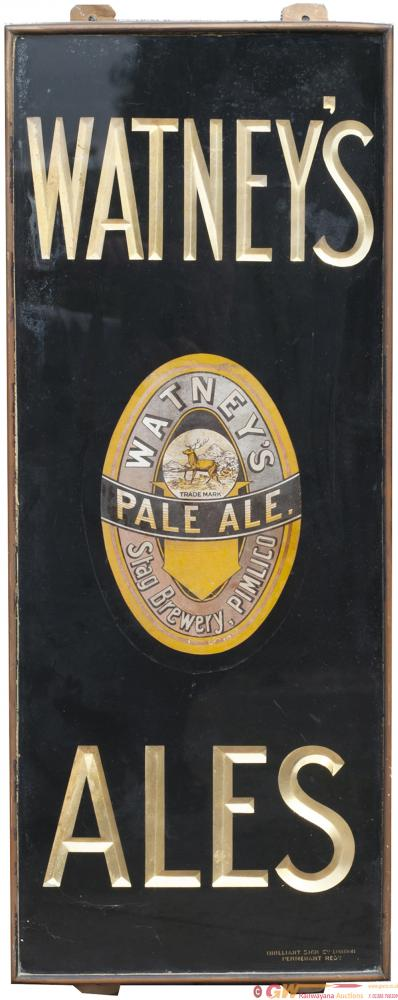 Brewery Sign WATNEYS ALES With Central Motif
