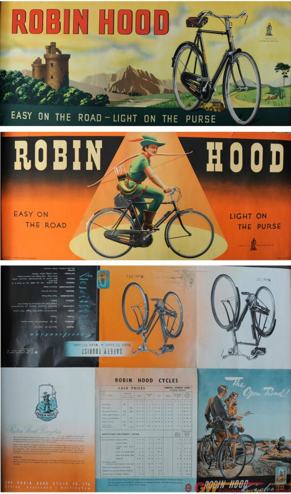 A Trio Of Raleigh Bicycle Posters, 'Robin Hood -