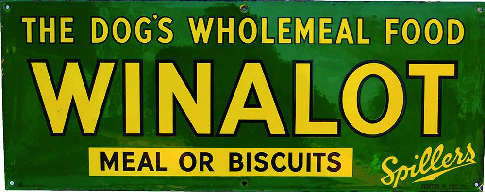 Enamel Advertising Sign 'Winalot - The Dog's