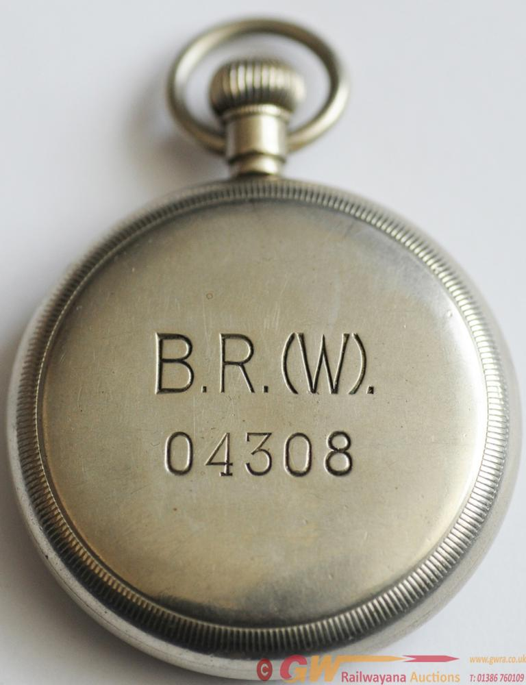 BR(W) Pocketwatch Engraved On Rear Of Case
