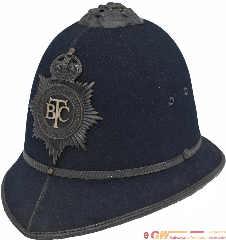 British Transport Policeman's Helmet Complete With