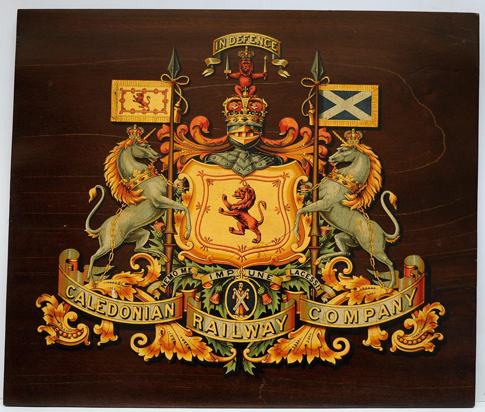 Caledonian Railway Mounted CREST. The Company COAT