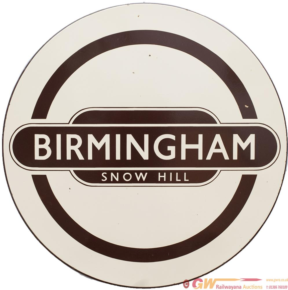 BR Enamel Totem Roundel FF BIRMINGHAM SNOW HILL