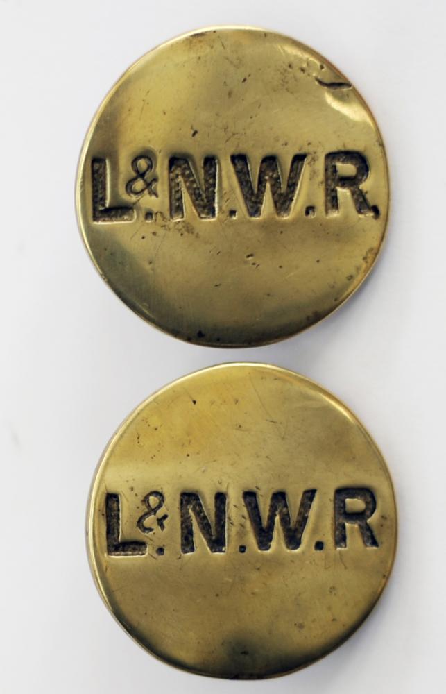 LNWR Horse Brasses X 2 Both Hand Engraved LNWR