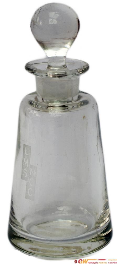LMS NCC Glass Vinaigrette Bottle Nicely Etched LMS