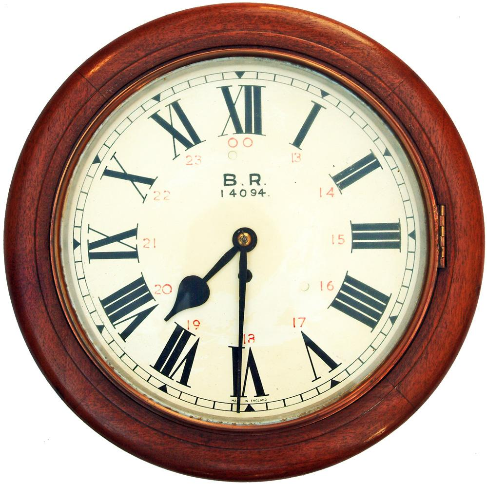 A 12-Inch Mahogany Cased Iron Dial Fusee Clock