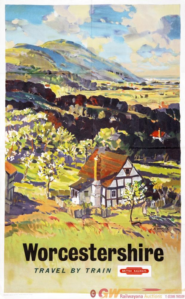 Poster British Railways 'Worcestershire' By