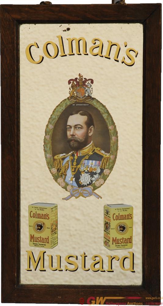 Advertising Mirror 'Colman's Mustard', 22 X 11