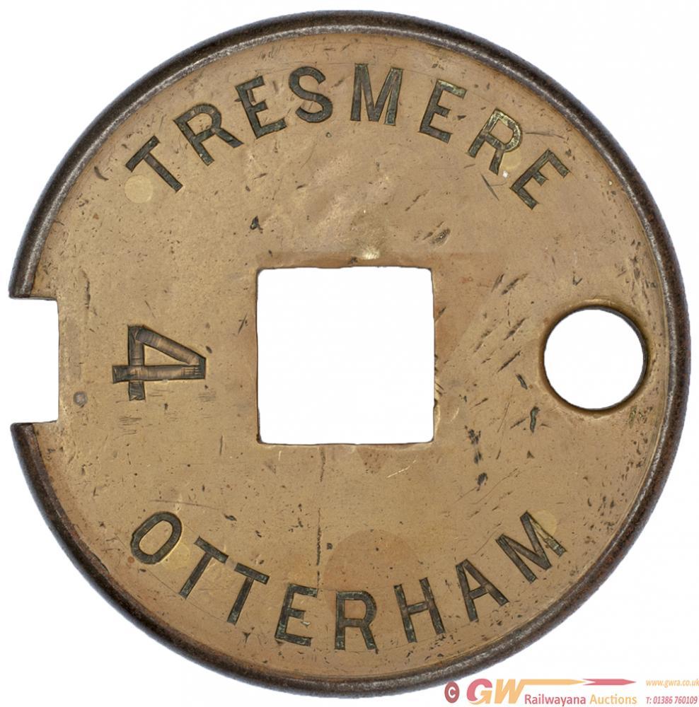 Tyers No 6 Single Line Brass & Steel Tablet