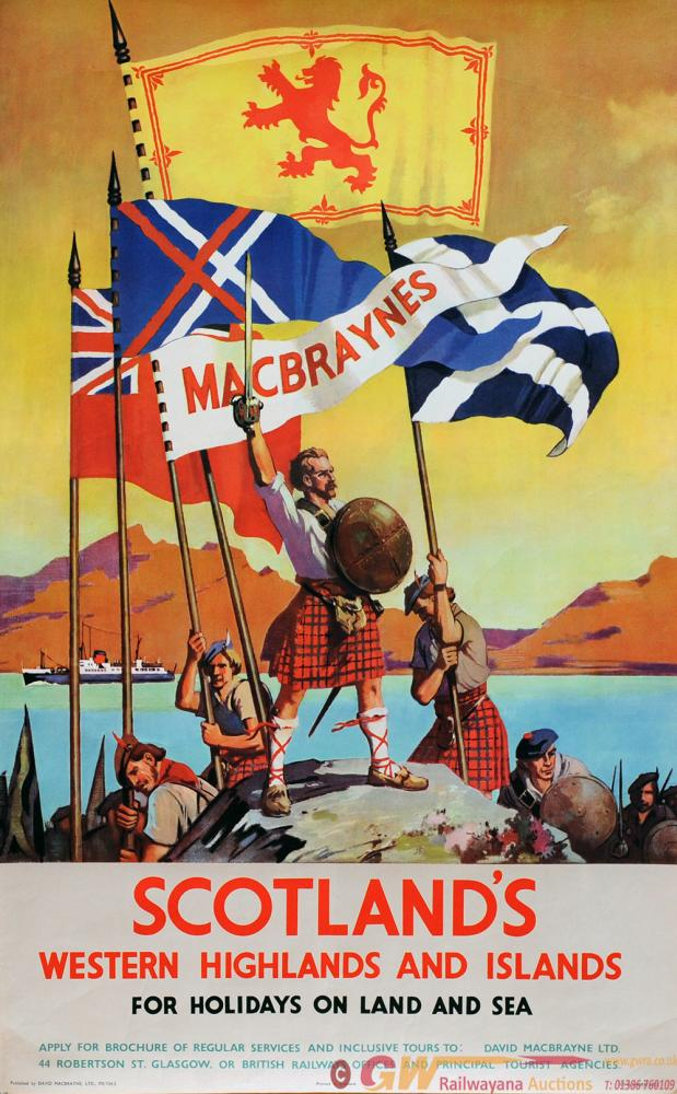 Poster David McBrayne Ltd 'Scotland's Western