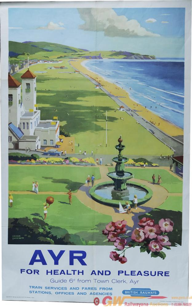 Poster, BR(Sc) 'Ayr - For Health And Pleasure' By