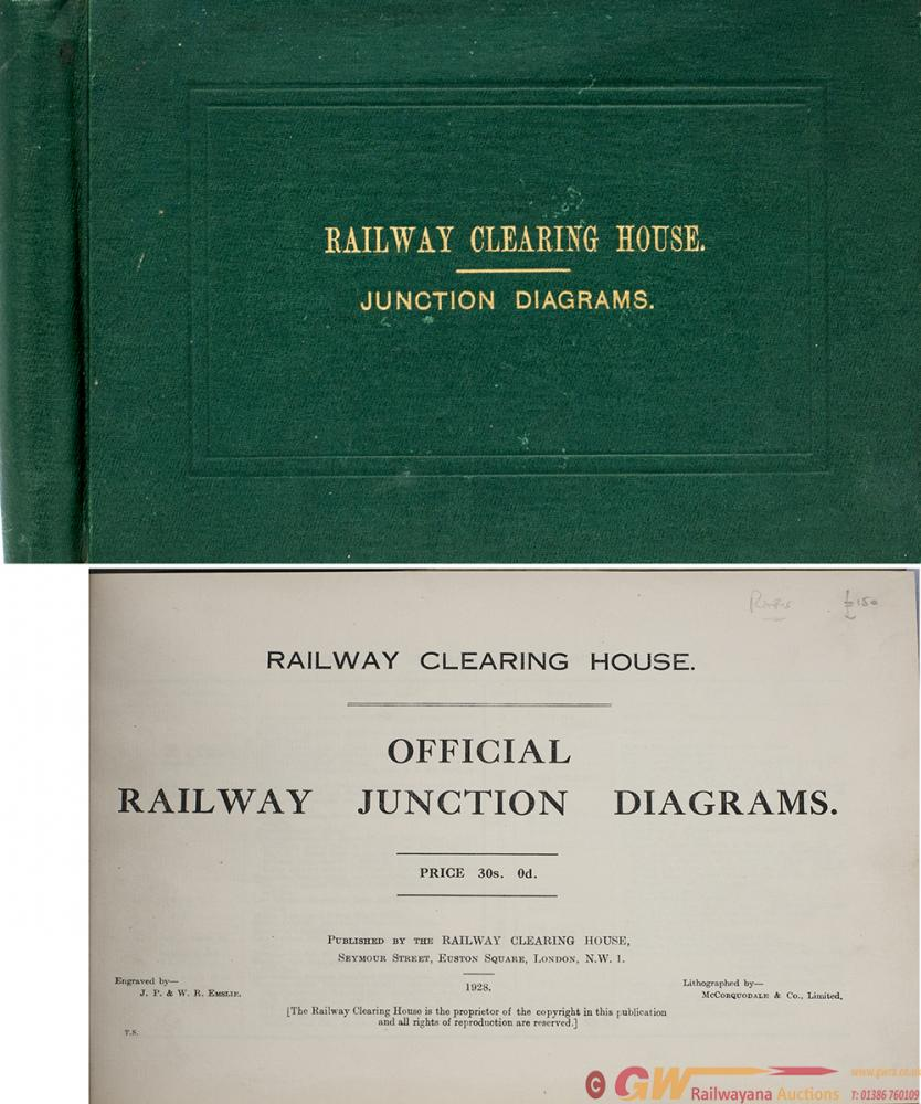 Railway Clearing House JUNCTION DIAGRAMS Book,