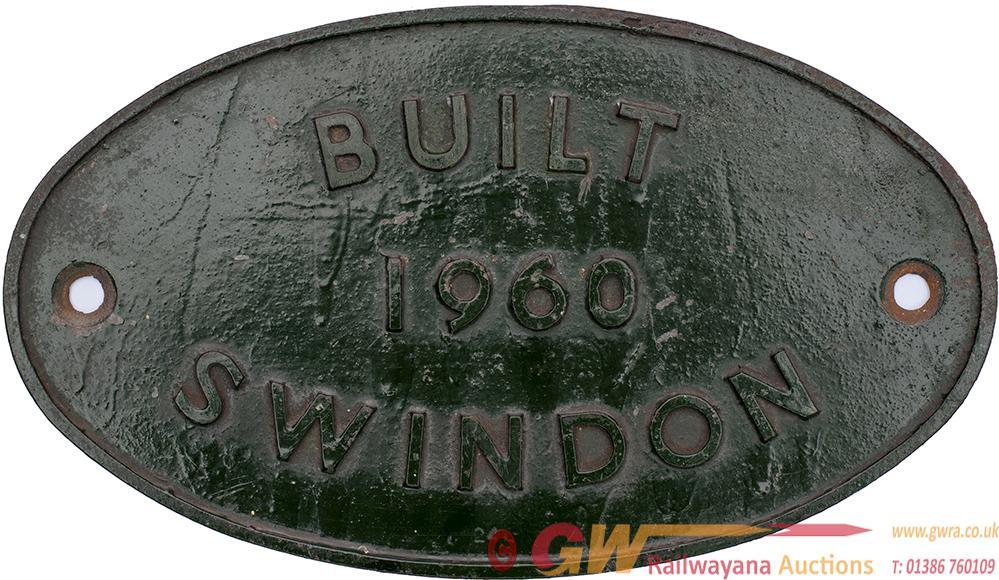 Diesel Worksplate Oval Cast Iron BUILT 1960