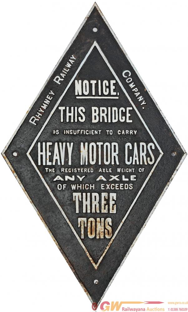 Rhymney Railway Cast Iron Bridge Restriction