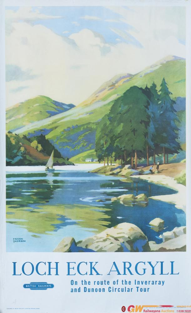 Poster BR(SC) LOCH ECK ARGYLL By Frank Sherwin.