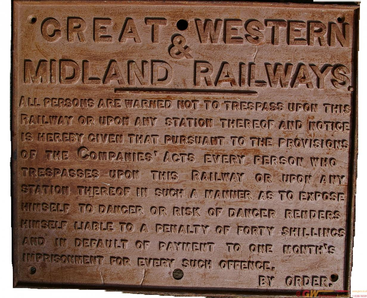 Great Western & Midland Railway Joint C/I Trespass