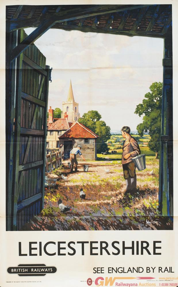 Poster, 'Leicestershire' By John Francis Bee,