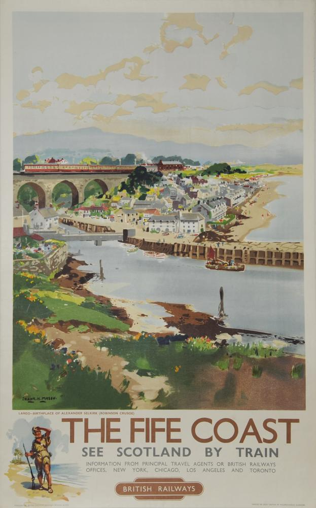 Poster BR 'The Fife Coast - Largo Birth Place Of