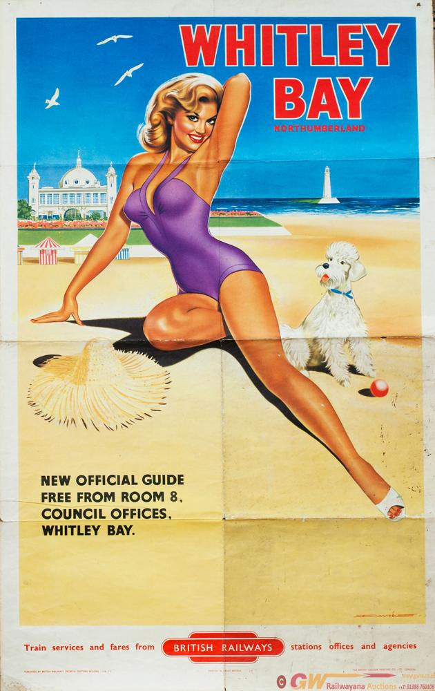 Poster BR WHITLEY BAY NORTHUMBERLAND By Davies.