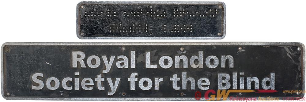 Nameplate ROYAL LONDON SOCIETY FOR THE BLIND And