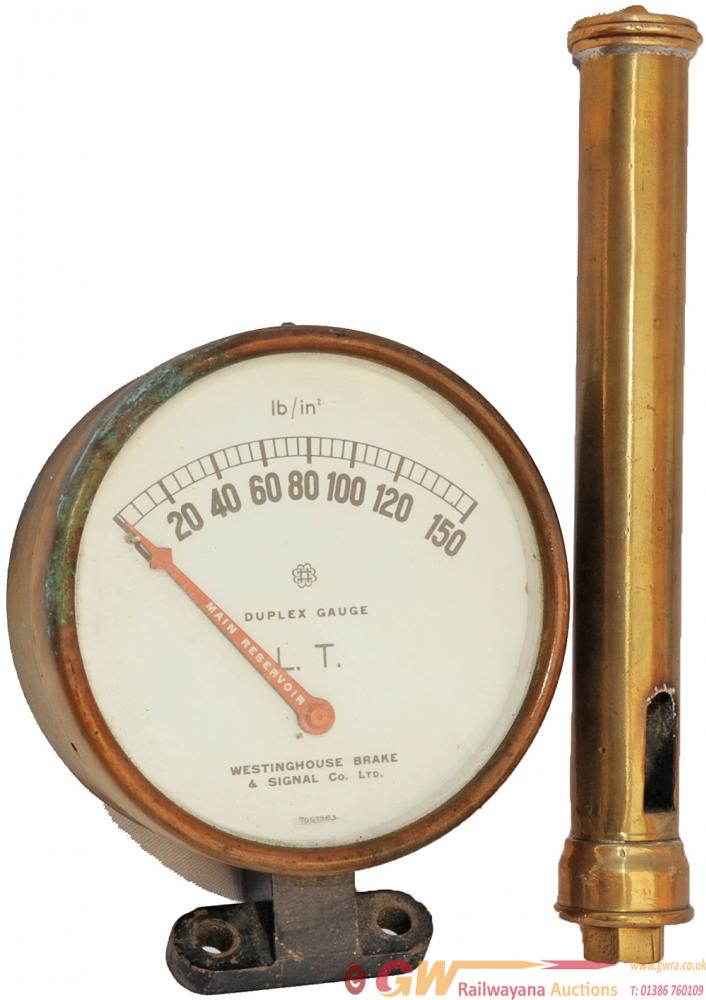 London Transport Brass Loco Whistle, 11 In Length,