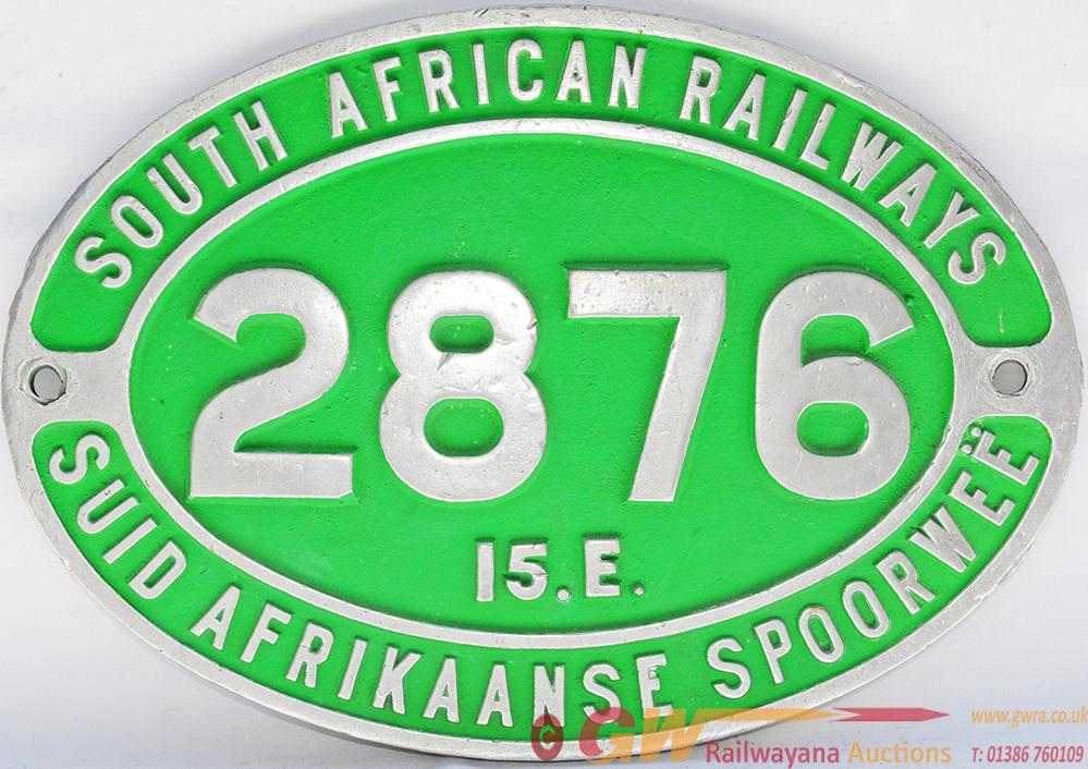 South African Cast Alloy Cabside Numberplate 2876