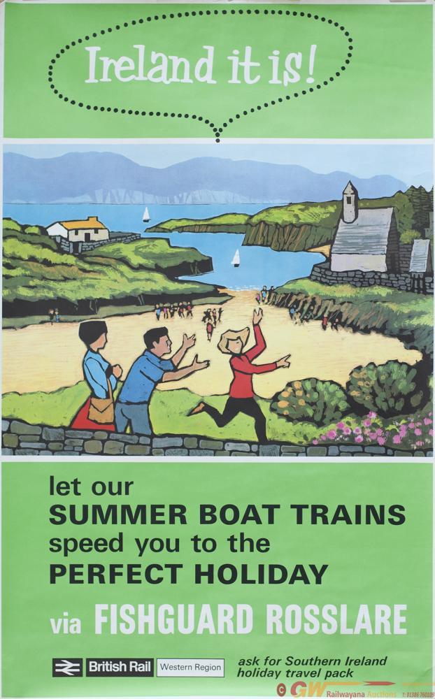 Poster BR(W) IRELAND IT IS VIA FISHGUARD -