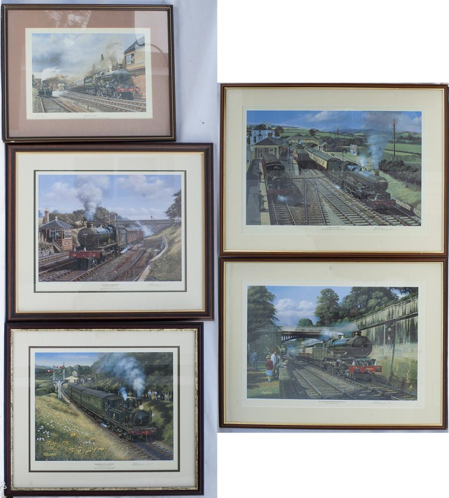5 X BARRY FREEMAN Framed And Glazed Signed PRINTS,