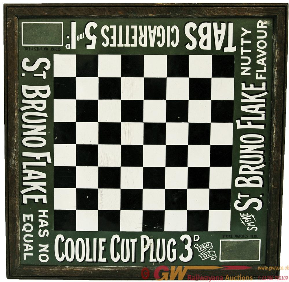 Enamel Advertising Sign 'St Bruno Flake Chess