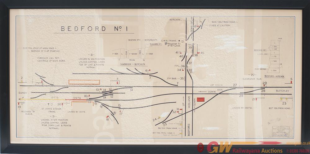 LMR Signal Box Diagram BEDFORD no1, Full Colour
