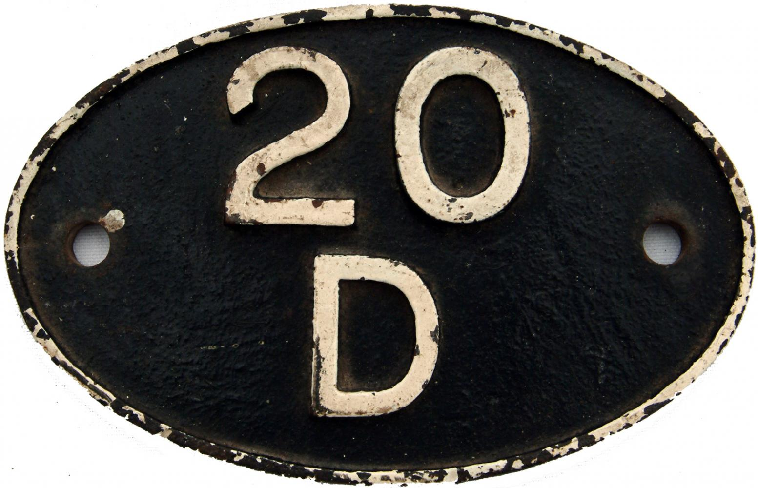 Shedplate 20d,  LMS Pattern, Normanton Until