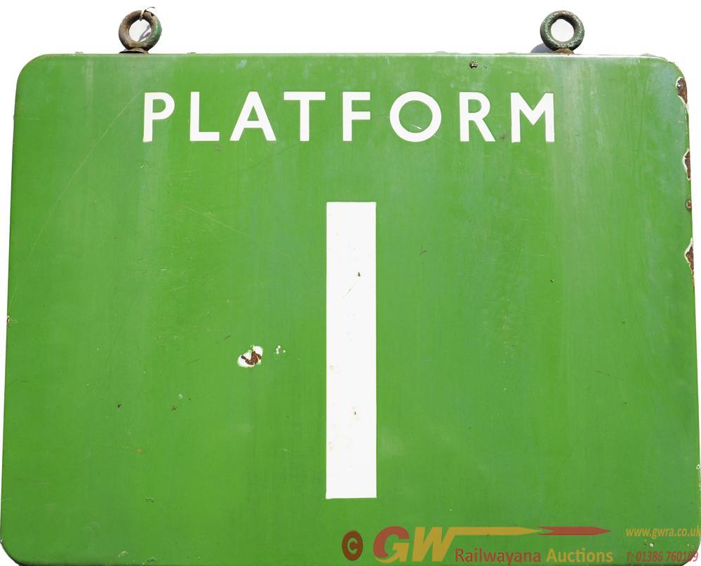 BR(S) Double Sided Platform Hanging Sign PLATFORM