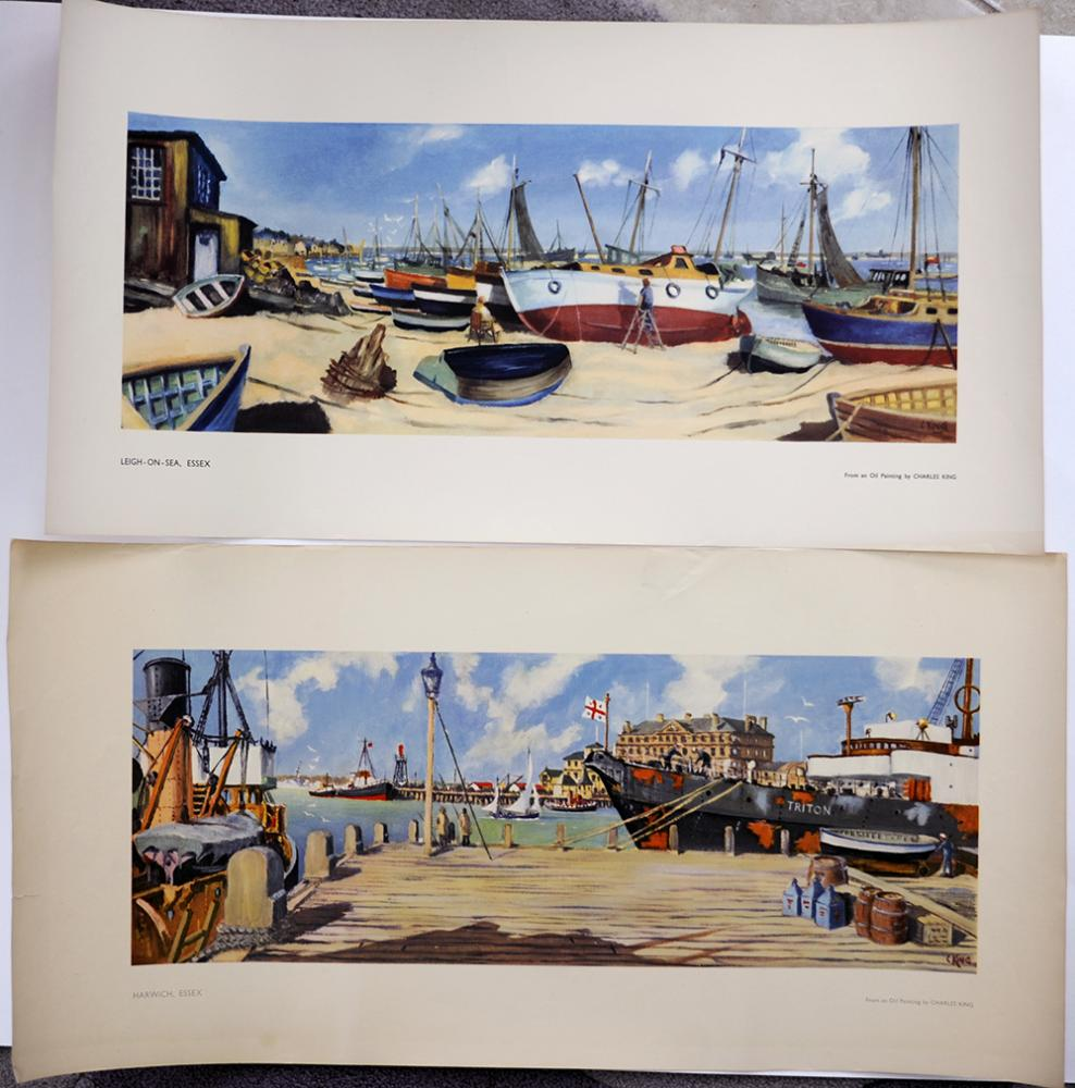 LNER Unissued Carriage Prints. LEIGH On SEA And
