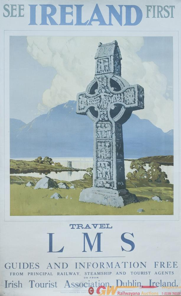 Poster LMS SEE IRELAND FIRST TRAVEL BY LMS By Paul
