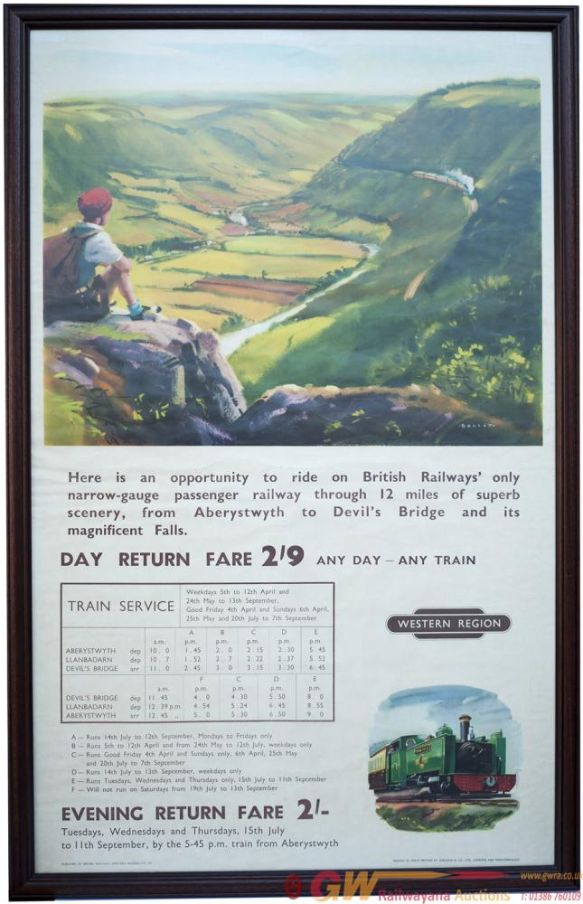 Poster BR Advertising THE ONLY BRITISH RAILWAY