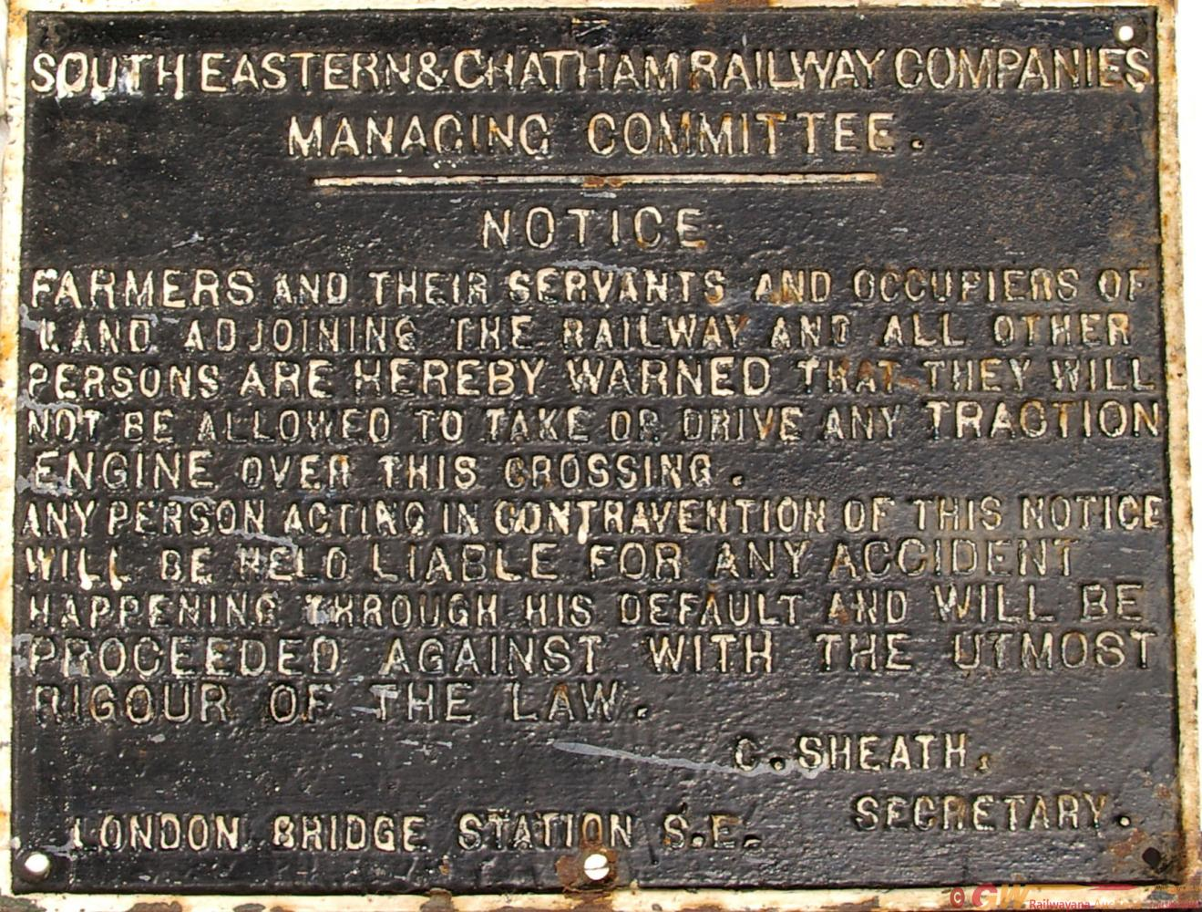 South Eastern & Chatham Railway C/I Farmers &